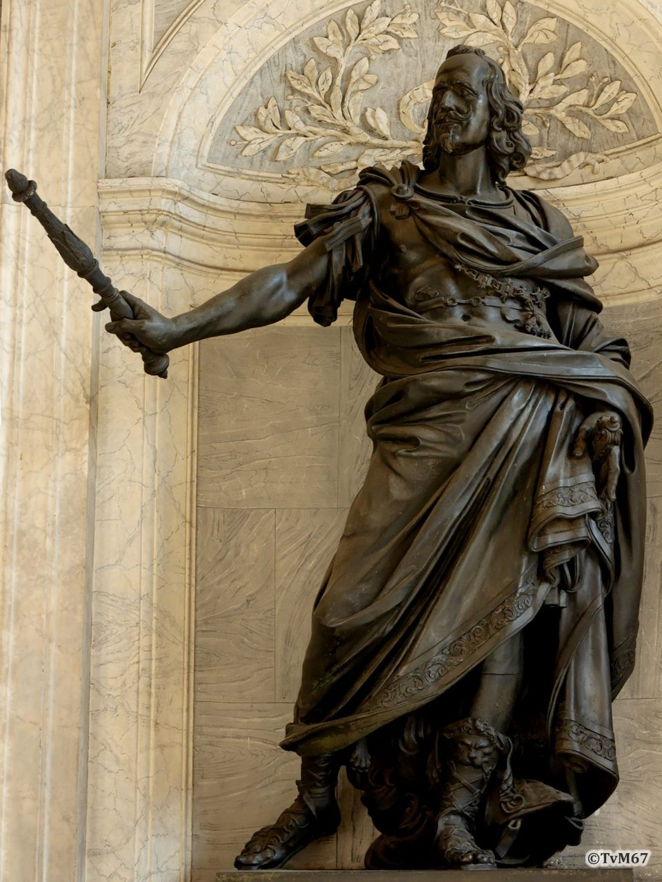Roma, Basilica di Santa Maria Maggiore, Portico, Beeld Philips IV van Spanje (internet)