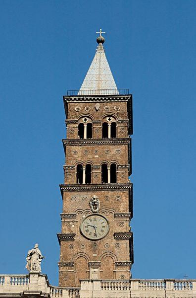 Roma, Basilica di Santa Maria Maggiore, Voorgevel, Campanile (internet)