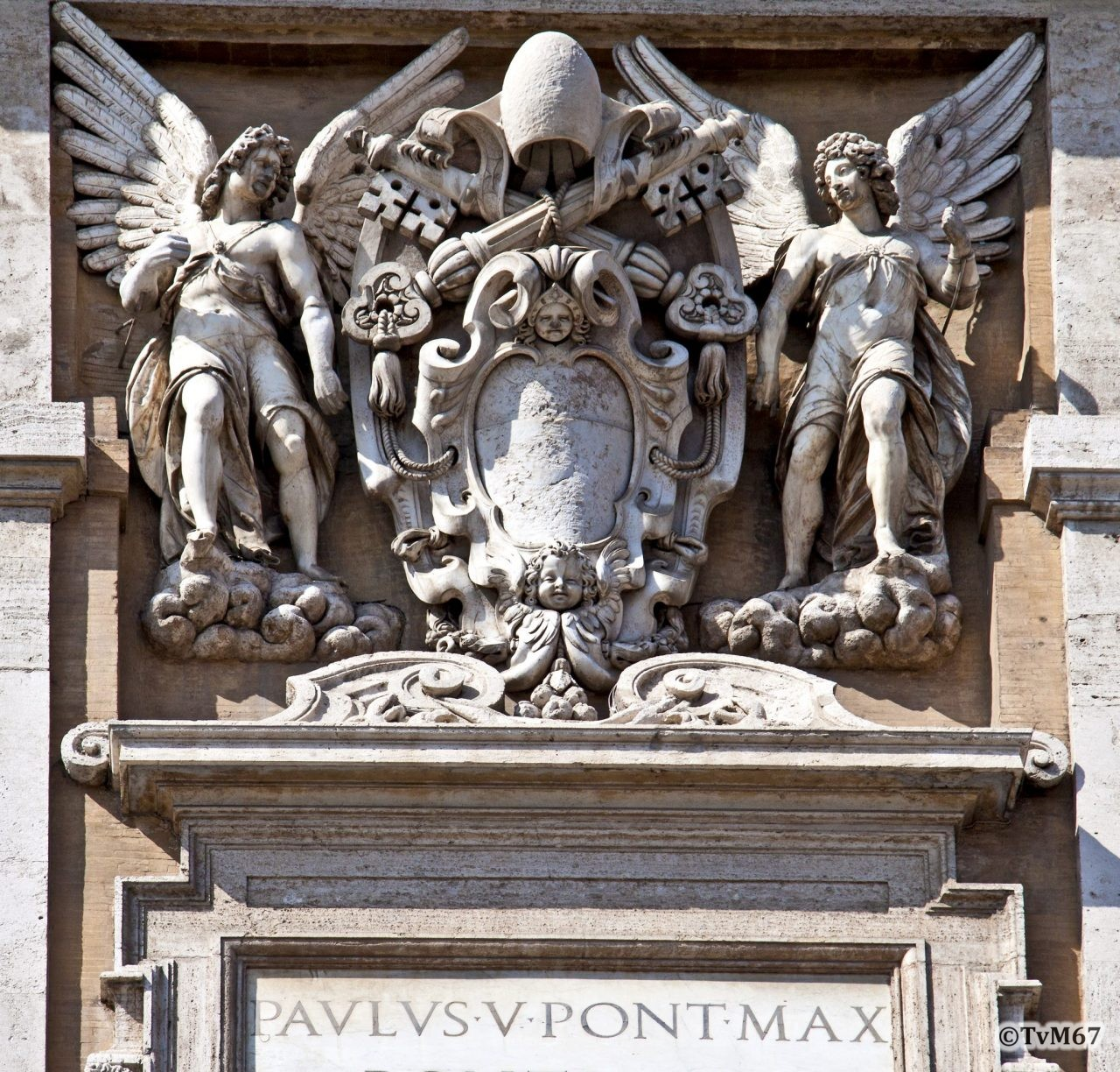 Basilica di Santa Maria Maggiore, Voorgevel, detail