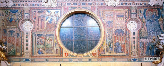 Roma, Basilica di Santa Maria Maggiore, gevelloggia, Filippo Risuti, Mozaïek (internet)