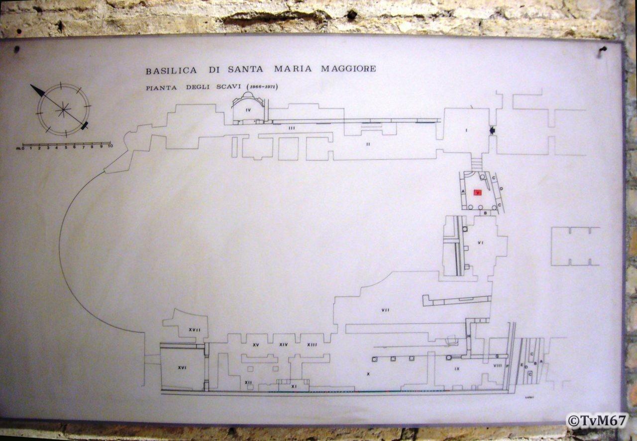 Basilica di Santa Maria Maggiore plattegrond opgravingen