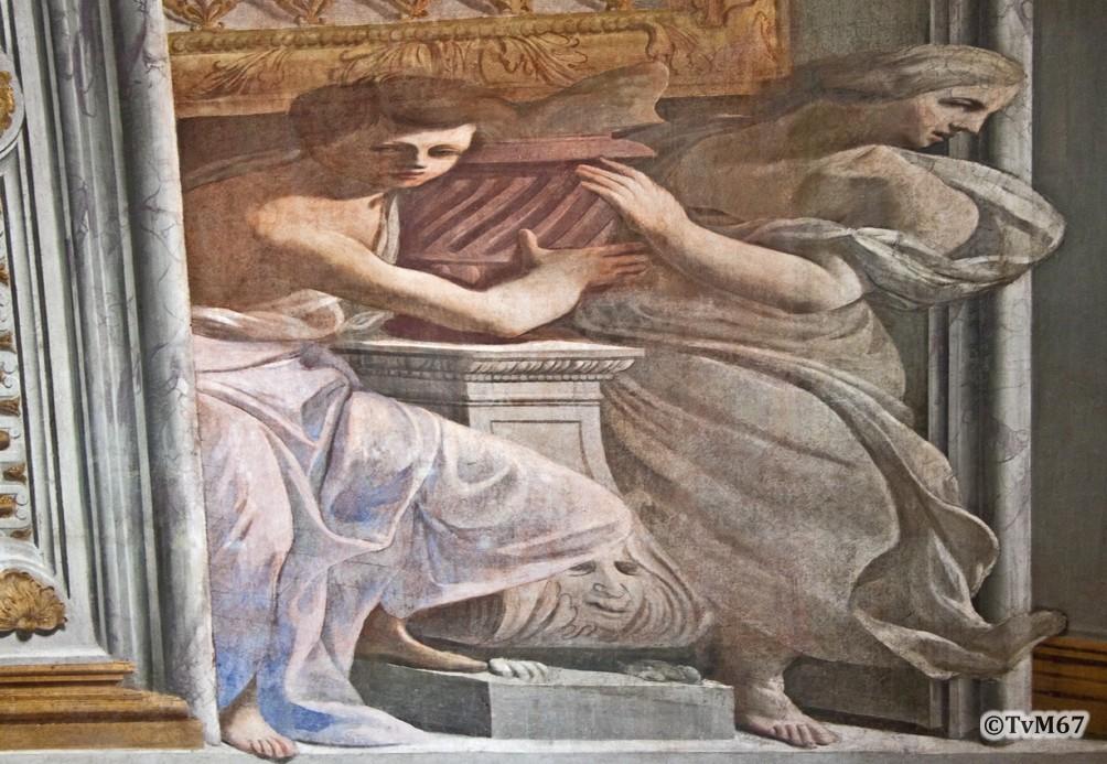 Roma, Casa Professa del Gesù, Pozzo, Corridoio, Fresco frontaal
