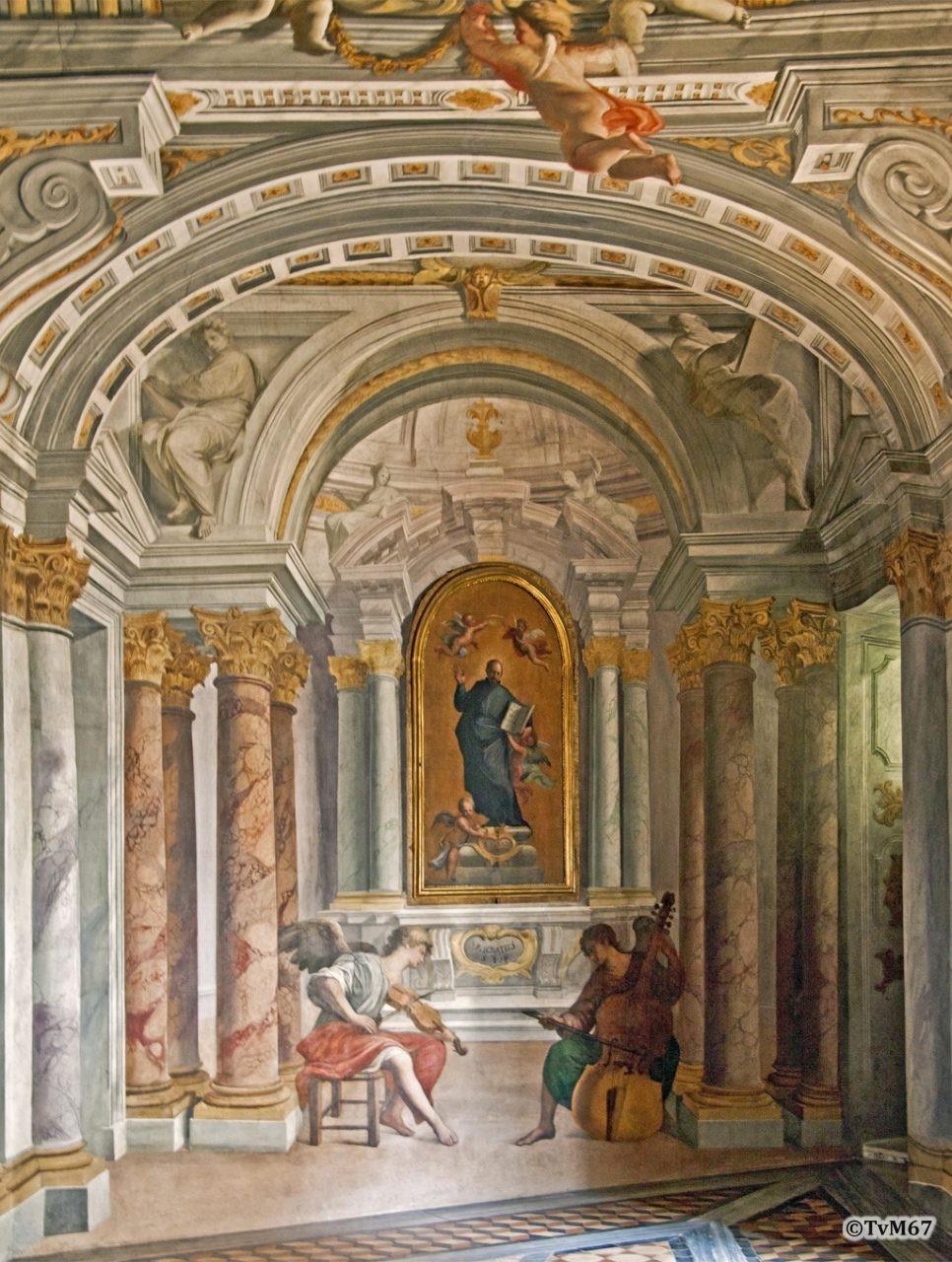 Roma, Casa Professa del Gesù, Pozzo, Corridoio, altaar,