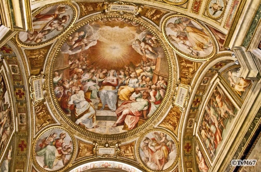 Roma, Chiesa del Gesù, 1e k li, Cap di San Francesco Borgia, Gewelf, 2011