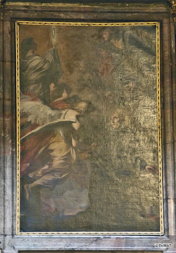 Roma, Chiesa del Gesù, 1e k li, Cap di San Francesco Borgia, Pozzo, Borgia in gebed voor de hostie, 2011