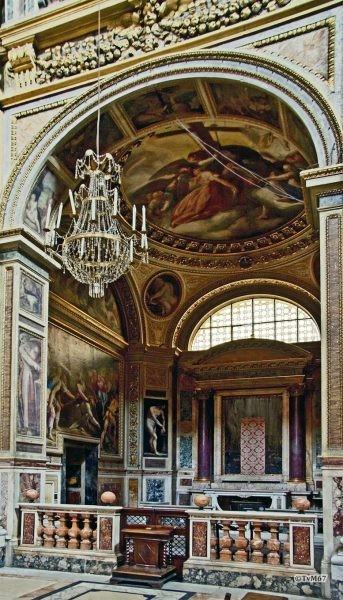 Roma, Chiesa del Gesù, 2e k re, Cap della Passione, Overzicht HDR, 2011