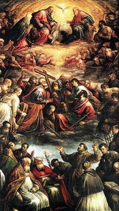 Roma, Chiesa del Gesù, 3e k li, Cap della SS Trinità, Altaarstuk, Bassano-da Ponte, SS Trinità (internet)