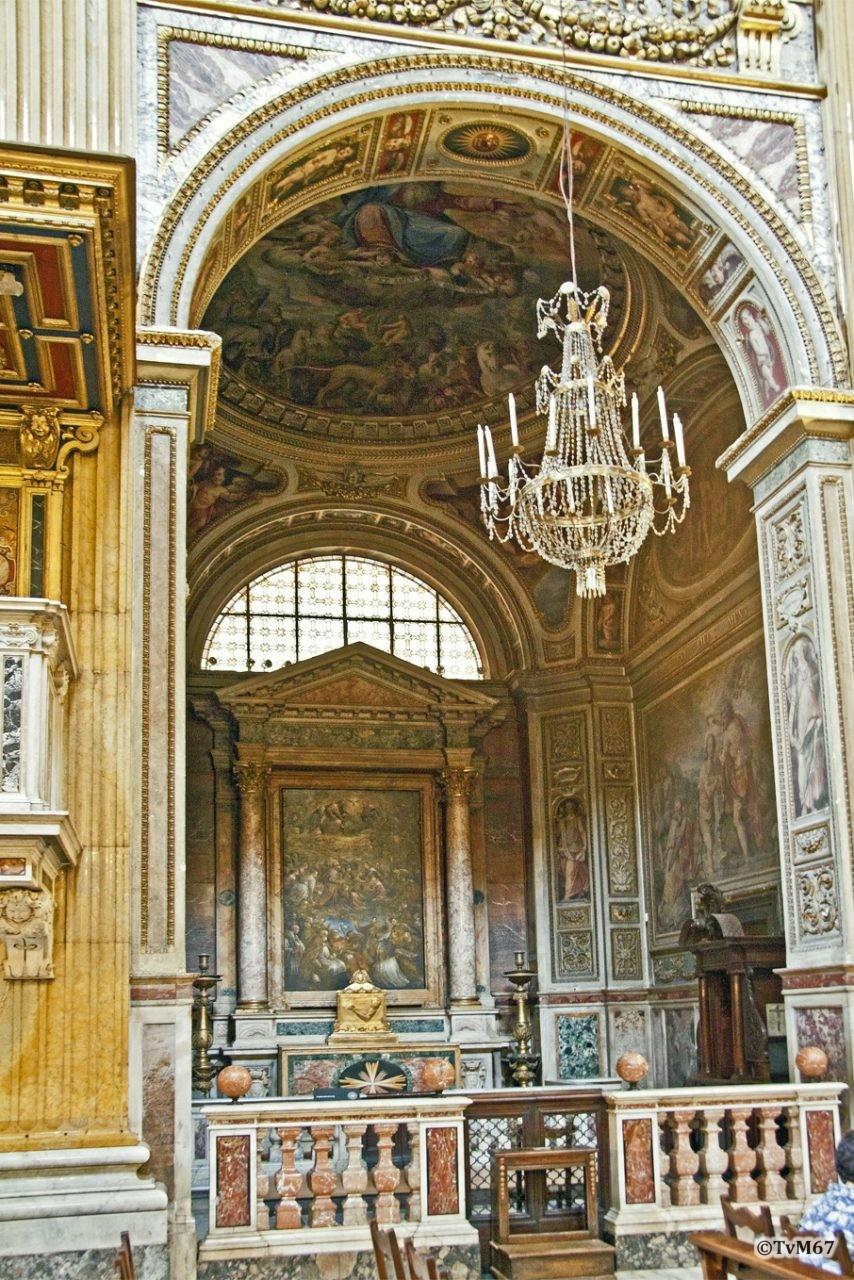 Roma, Chiesa del Gesù, 3e k li, Cap della SS Trinità, Overzicht, 2011