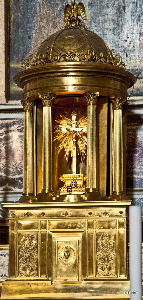 Roma, Chiesa del Gesù, Apsis, Altaar, Tabernakel, 2009