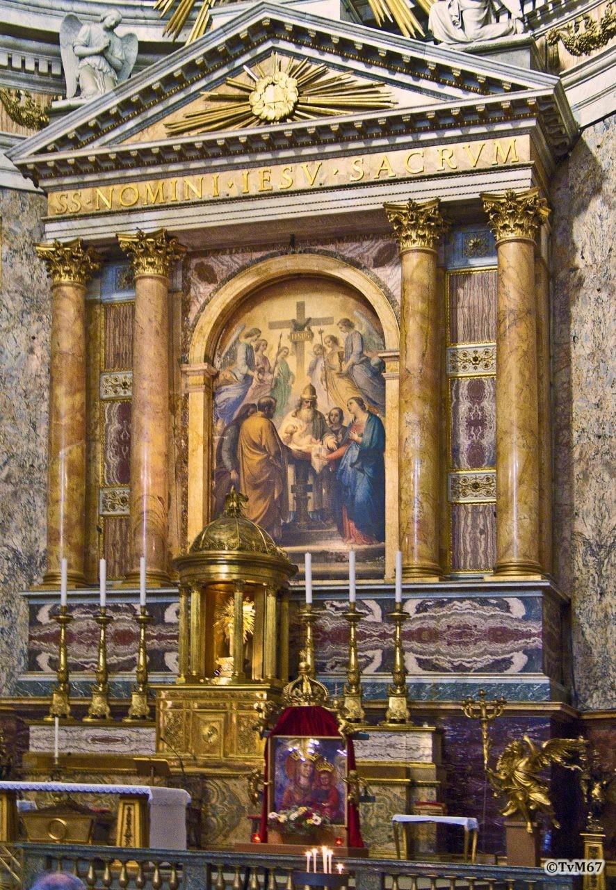 Roma, Chiesa del Gesù, Apsis, Altaar gesloten, 2008