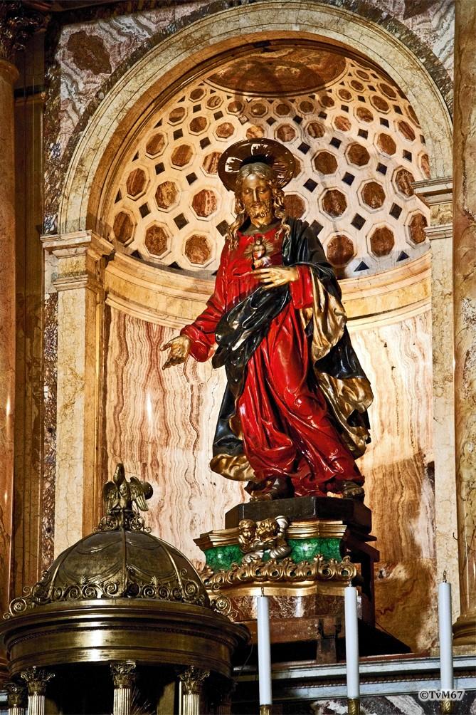 Roma, Chiesa del Gesù, Apsis, Altaarstuk geopend