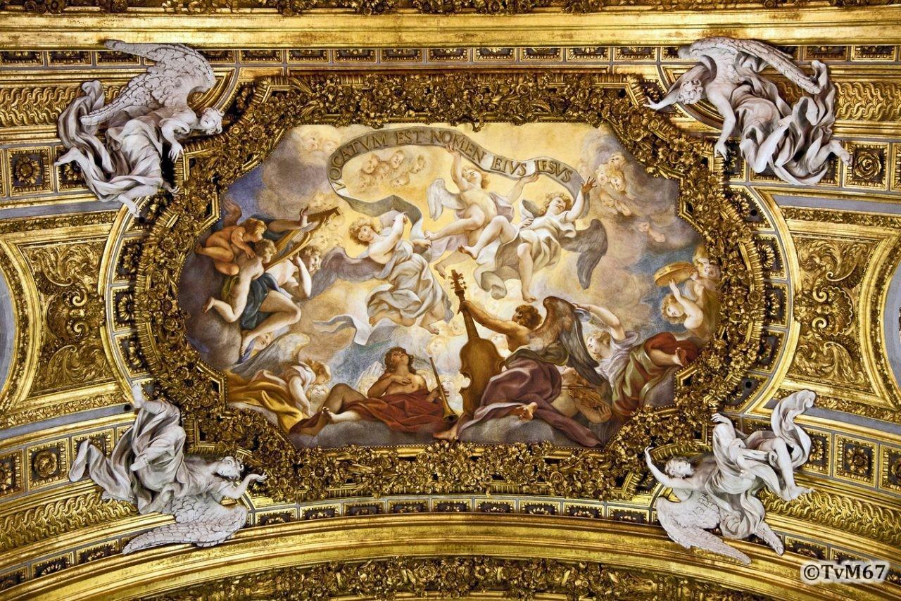 Roma, Chiesa del Gesù, Apsis, Apsisboog, Baciccio, 2011