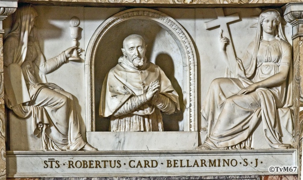 Roma, Chiesa del Gesù, Apsis, Bernini, Portret van Bellarmin