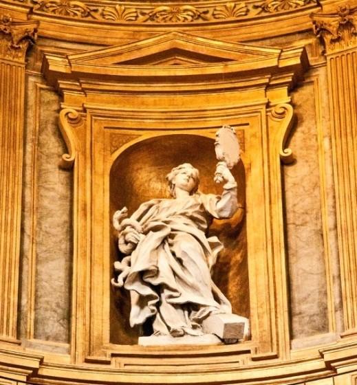 Roma, Chiesa del Gesù - Een van de koepelbeelden