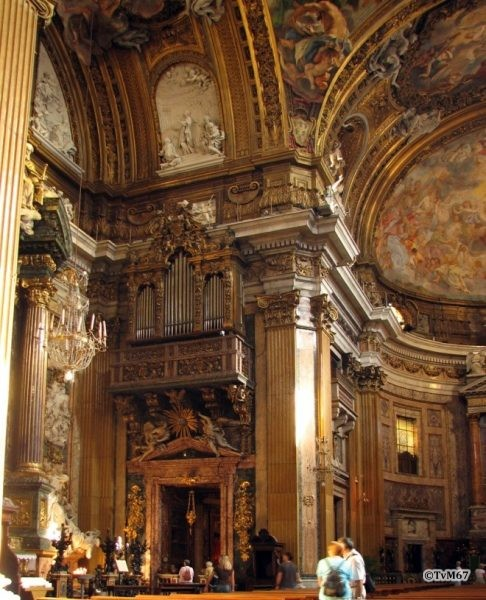 Roma, Chiesa del Gesù, Middenschip, Ingangsgevel, Orgel