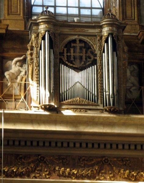 Roma, Chiesa del Gesù, Middenschip, Ingangsgevel boven ingang