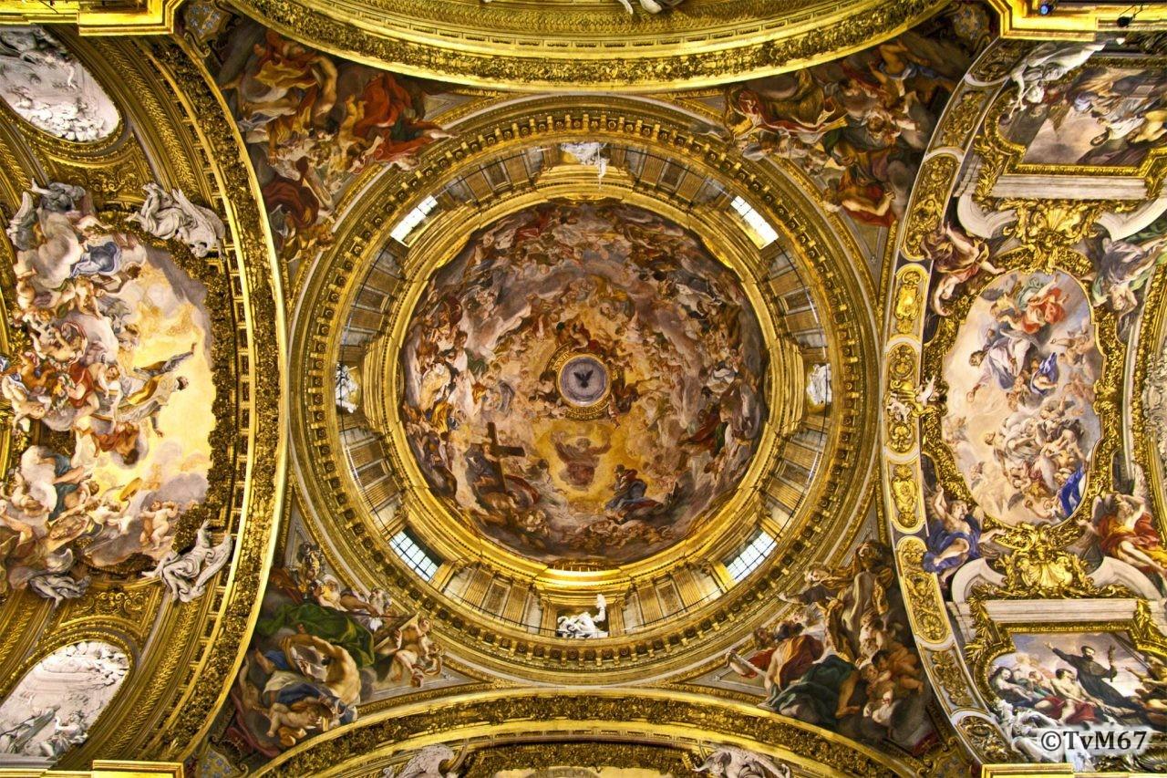 Roma, Chiesa del Gesù, Middenschip, Koepel 4, 2009