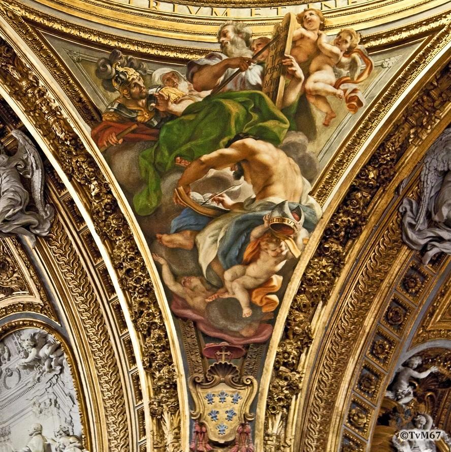 Roma, Chiesa del Gesù, Middenschip, Koepel, koepelpendentief 1, 2011