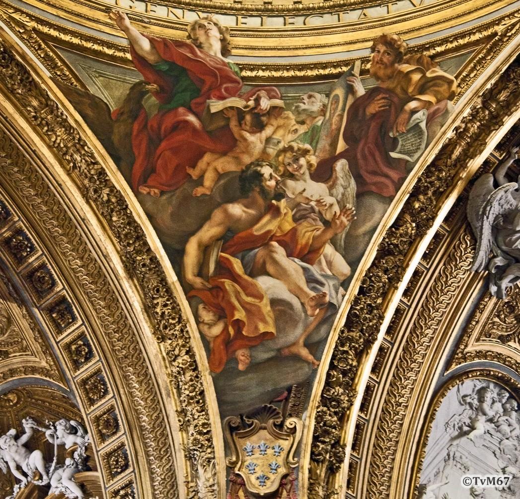 Roma, Chiesa del Gesù, Middenschip, Koepel, koepelpendentief 2, 2011