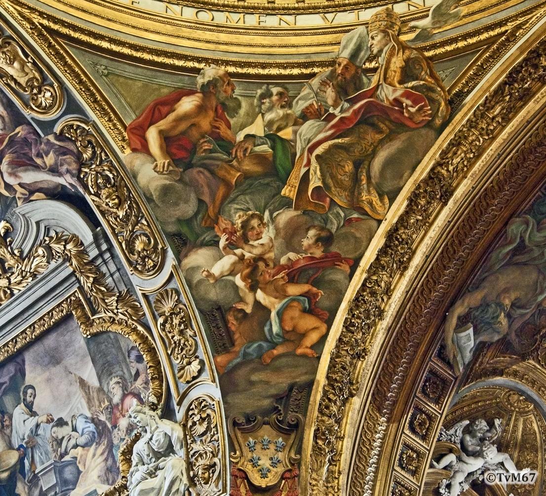 Roma, Chiesa del Gesù, Middenschip, Koepel, koepelpendentief 3, 2011