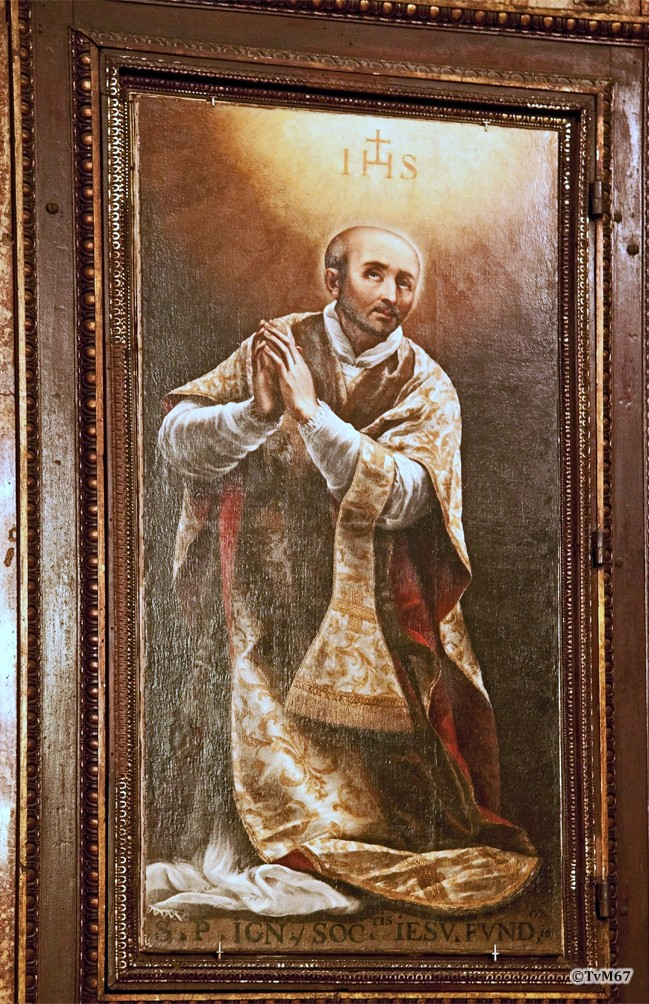 Roma, Chiesa del Gesù, Sagrestia, altaar, Carracci, Ignatius van Loyola, 2011