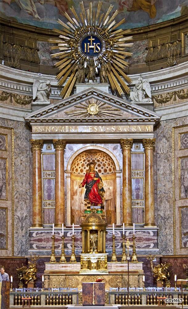 Roma, Chiesa del Gesù, apsis, Altaar geopend, 2011