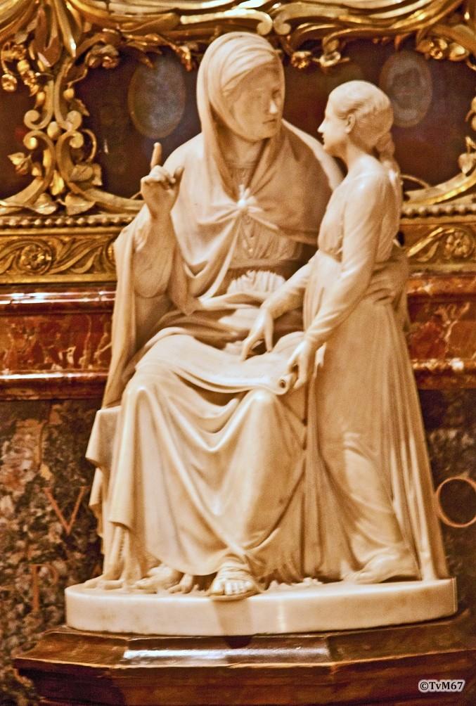 Roma, Chiesa del Gesù, koorkap li, Cap di Santa Maria della Strada, Sint Anna en Maria als kind, 2011