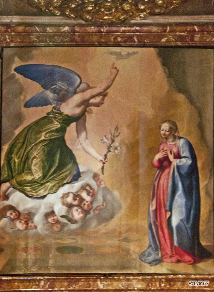 Roma, Chiesa del Gesù, koorkap li, Cap di Santa Maria della Strada, Valeriani, Annunciatie, 2012