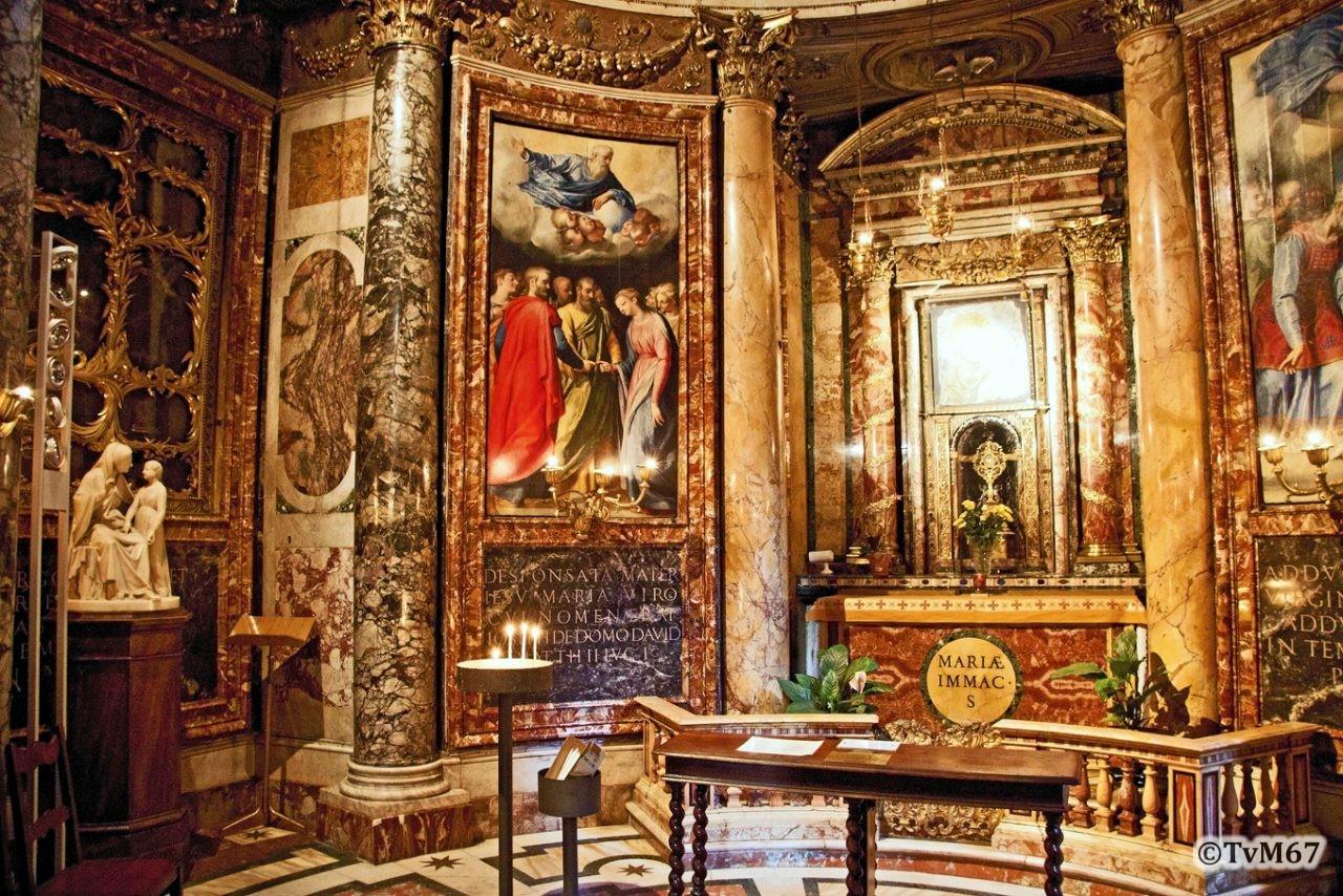 Roma, Chiesa del Gesù, koorkap li, Cap di Santa Maria della Strada, overzicht, 2011