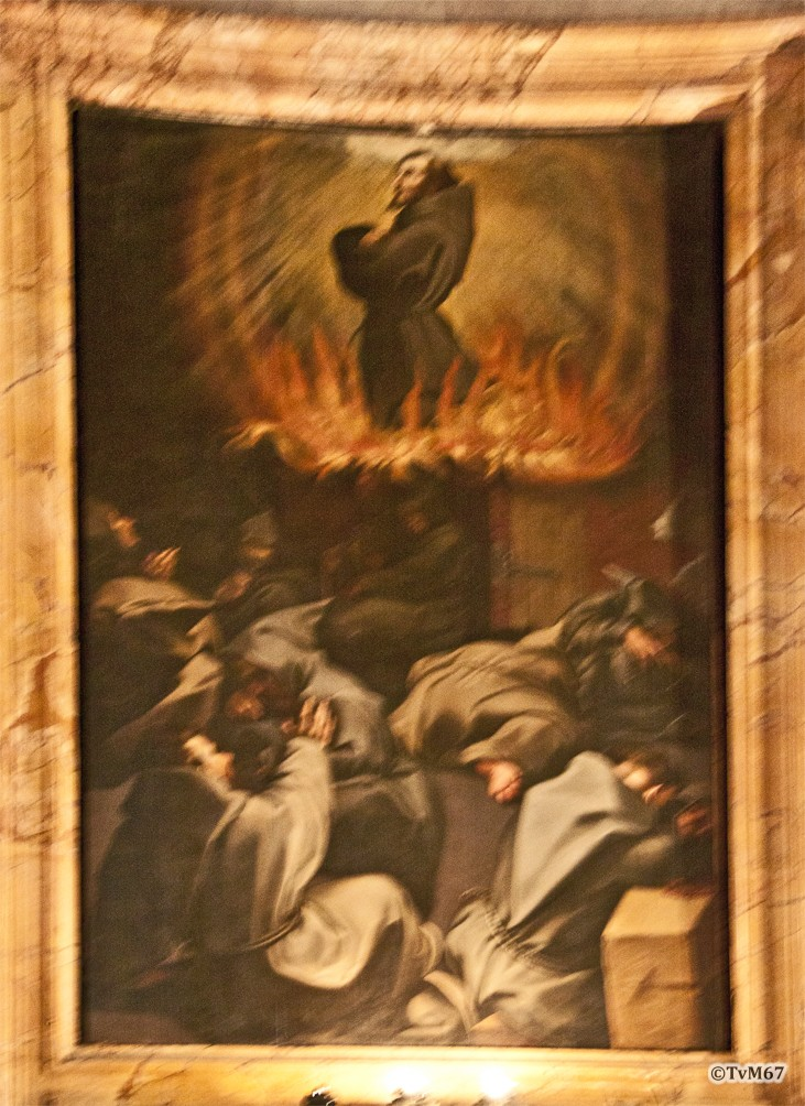 S Franciscus verschijnt in een vuurwagen, 2012