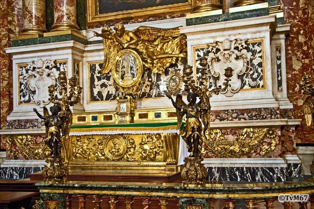 Altare di San Francesco Saverio, altaarmensa
