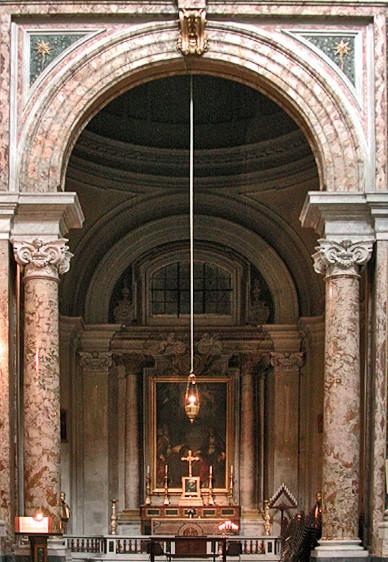 Roma, Chiesa di Sant'Ignazio, 1e k li, Cap di San Gregorio, overzicht (internet)