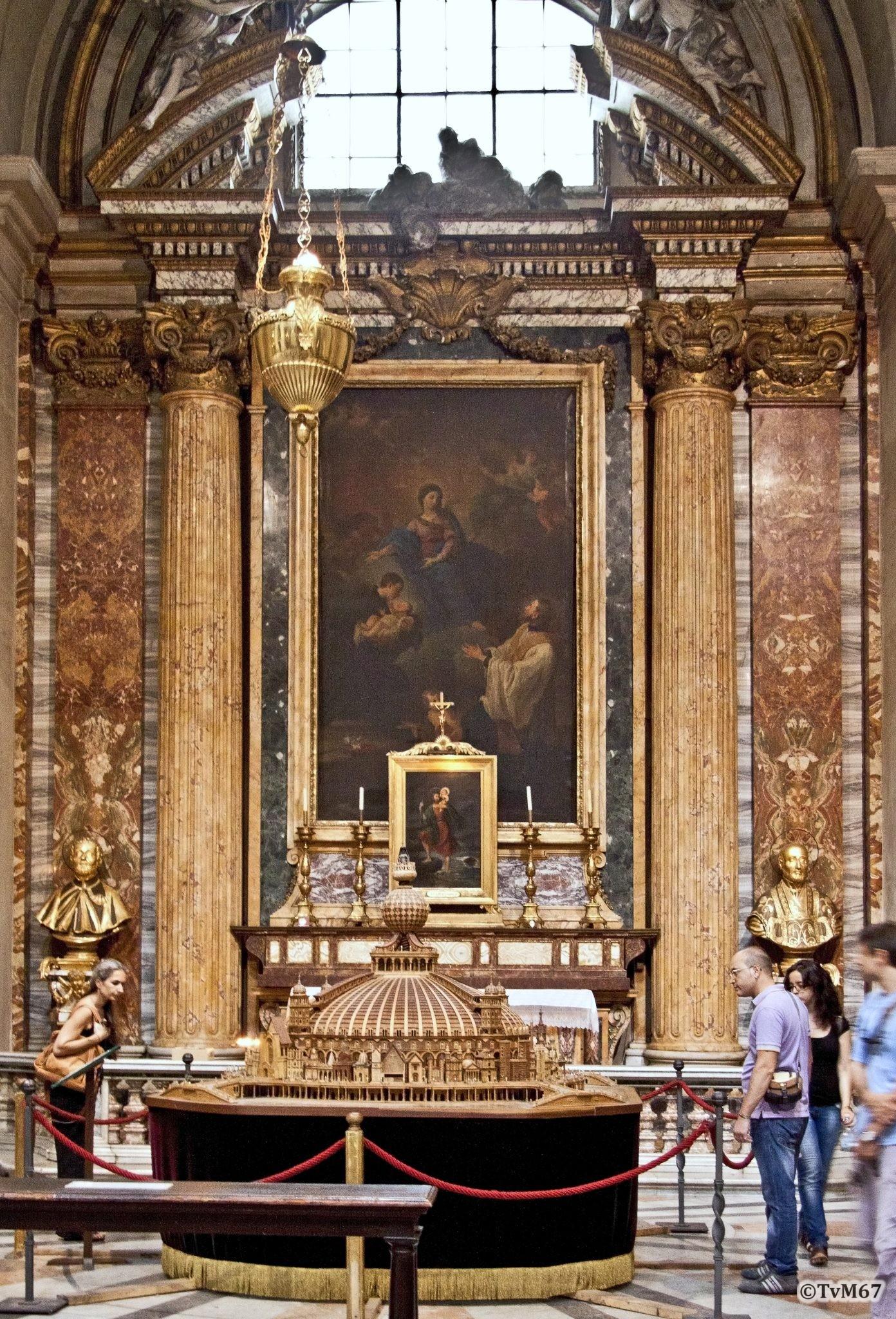 Roma, Chiesa di Sant'Ignazio, 1e k re, Cap Cristoforo, Overzicht, 2011