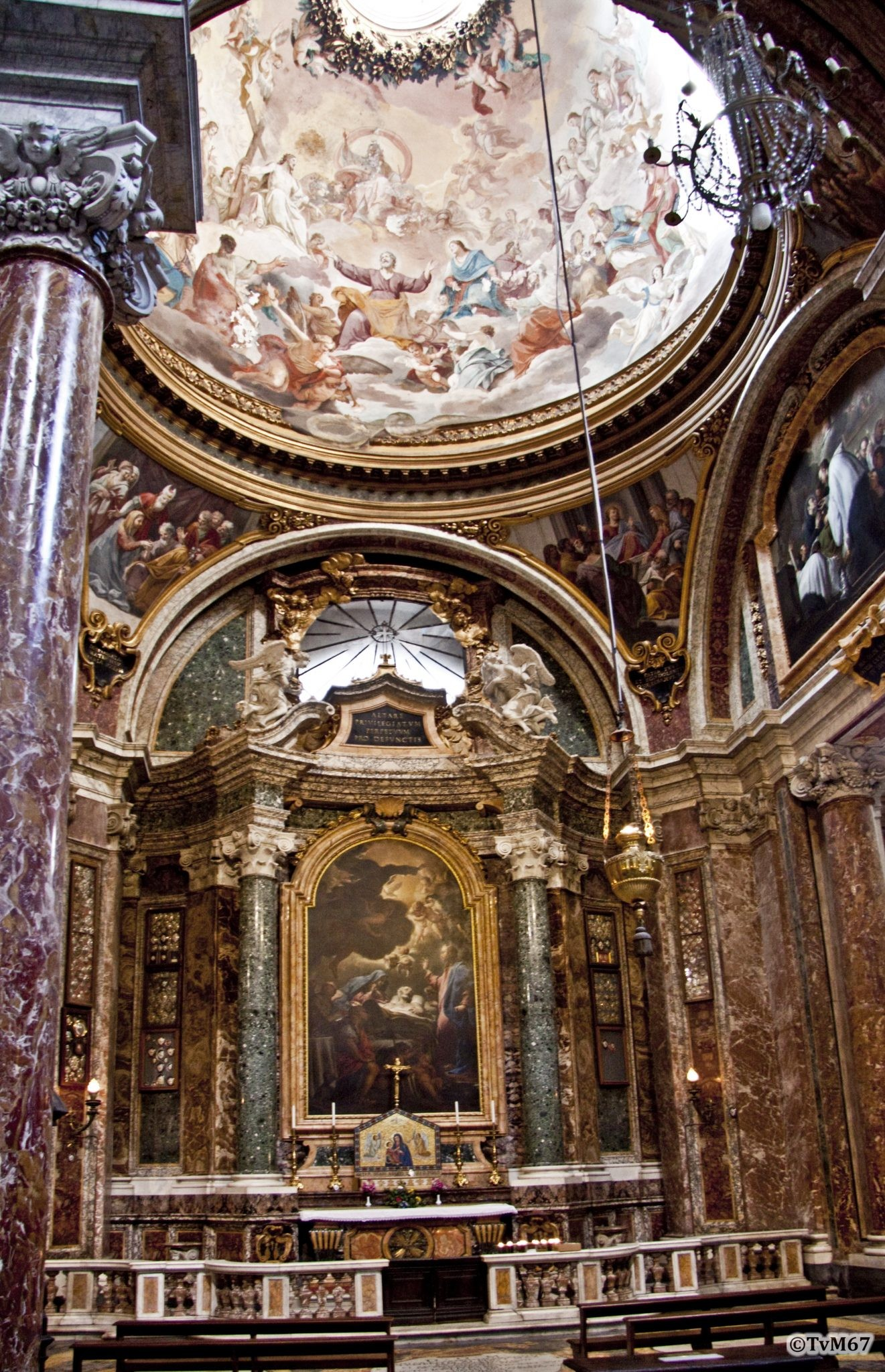 Roma, Chiesa di Sant'Ignazio, 2e k re, Cap Sacripanti, Overzicht