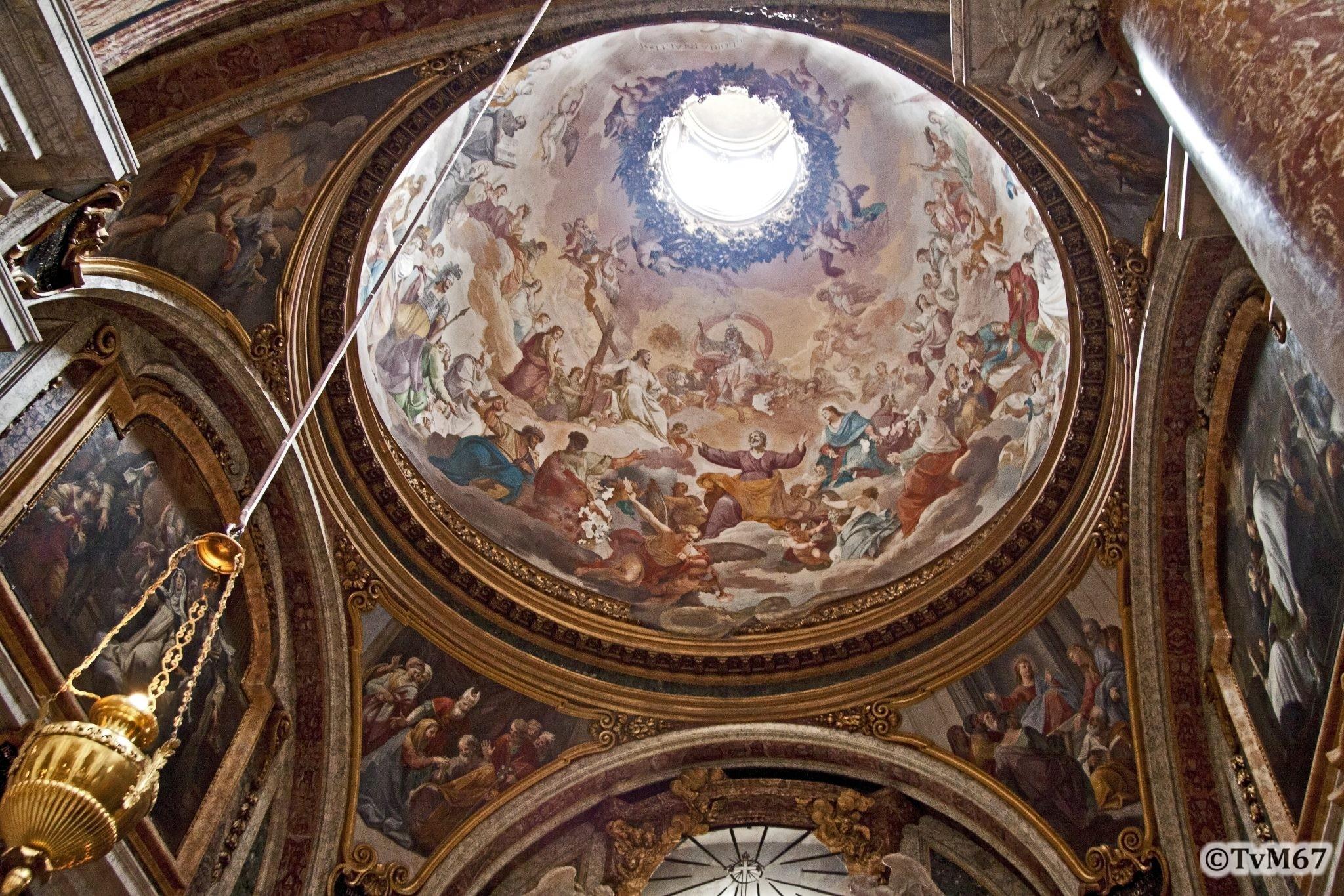 Roma, Chiesa di Sant'Ignazio, 2e k re, Cap Sacripanti, koepel en pendentieven, 2011