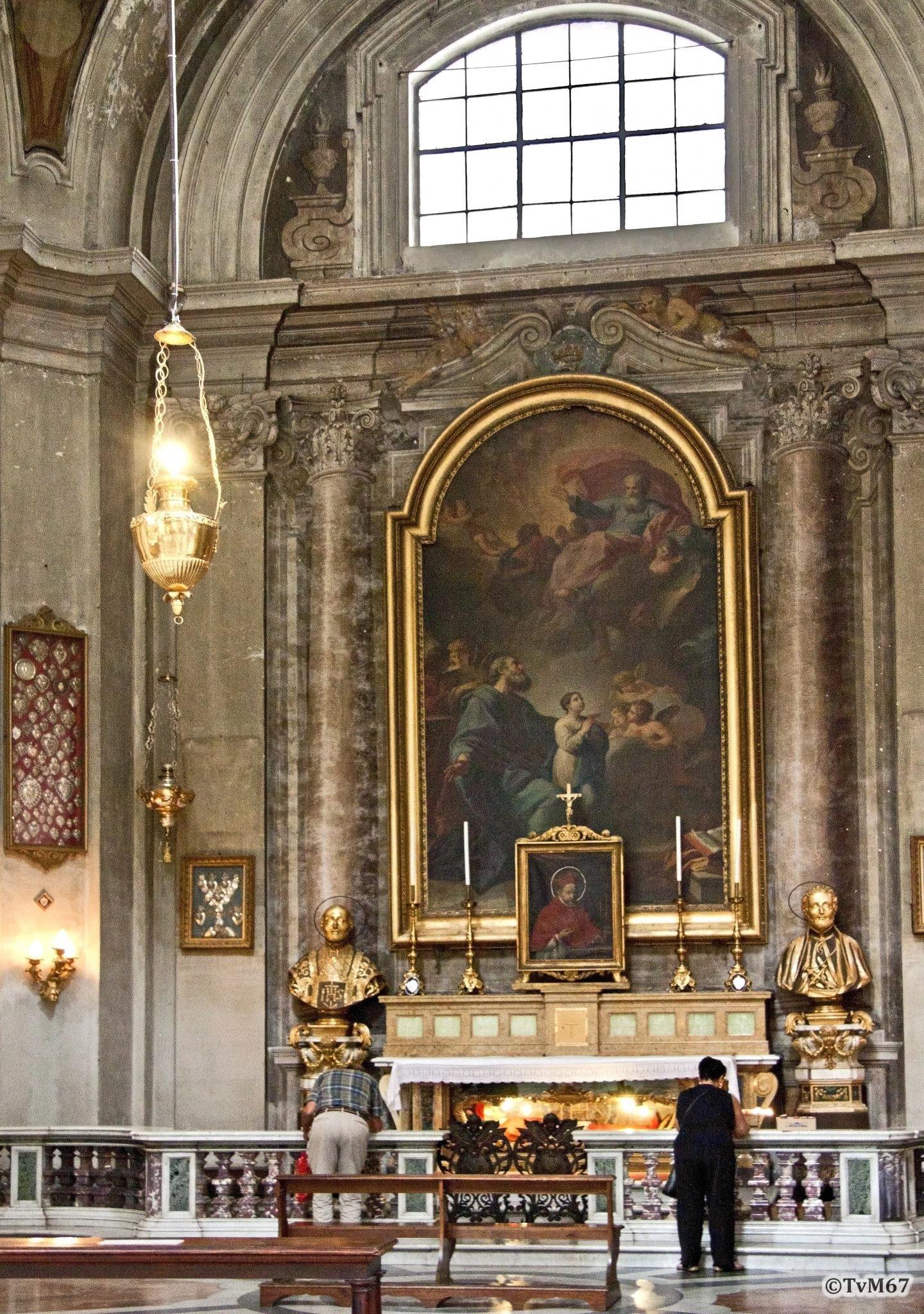 Roma, Chiesa di Sant'Ignazio, 3e k re, Cap Joachim, overzicht, 2011