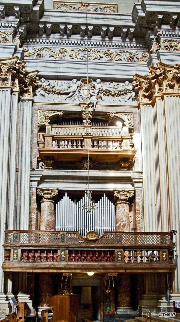 Roma, Chiesa di Sant'Ignazio, Apsis, orgel li, 2011
