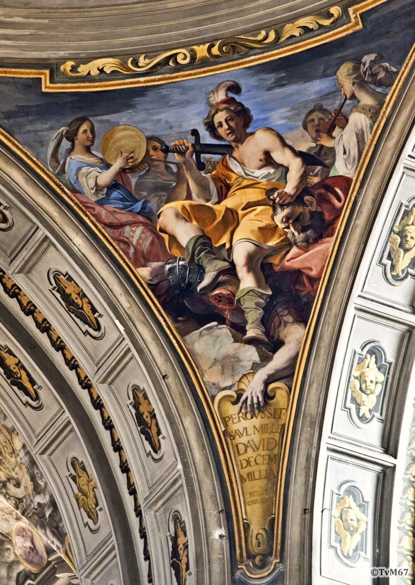 Roma, Chiesa di Sant'Ignazio, Koepel, Pendentief, Pozzo, David, 2011