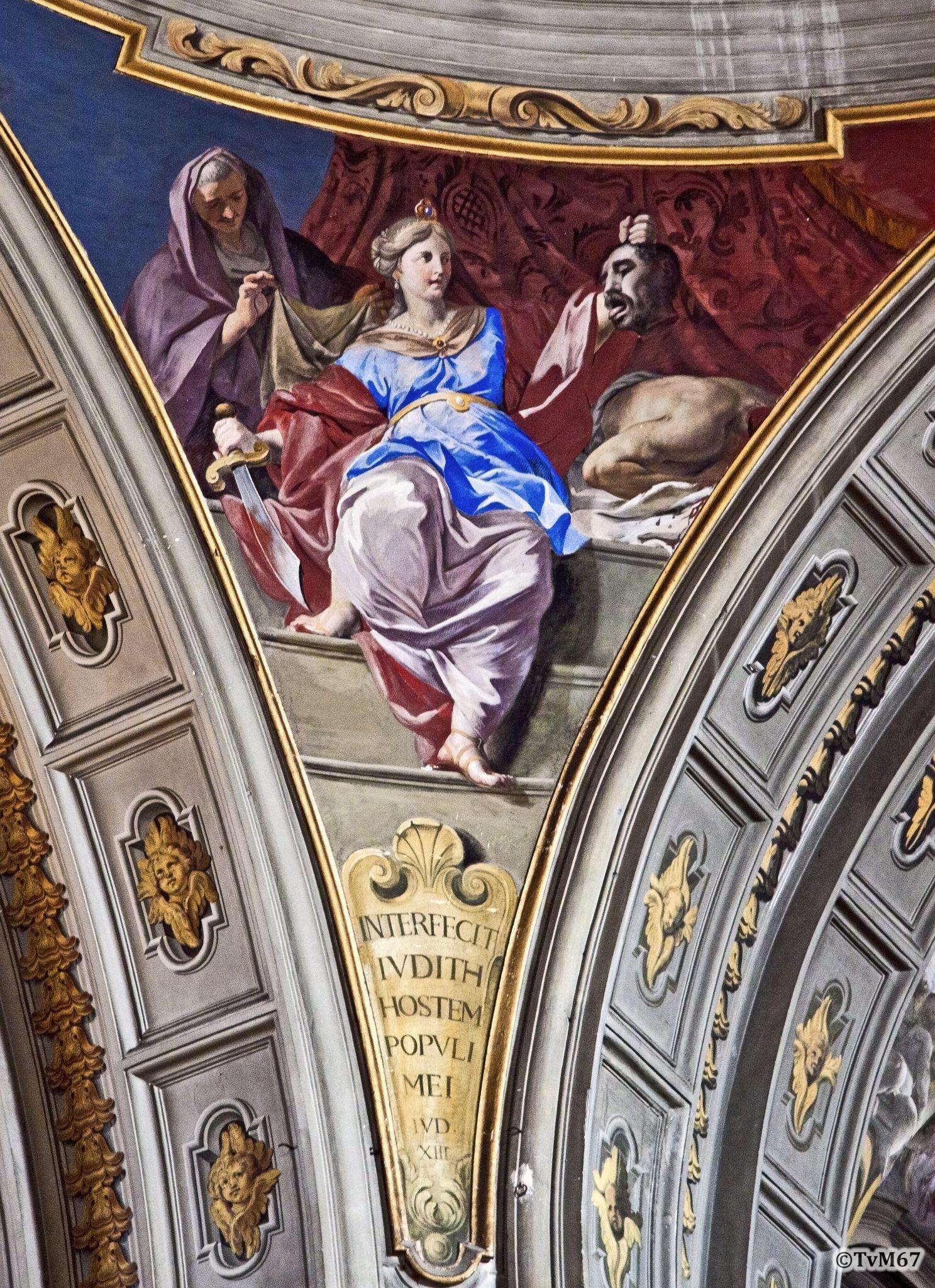 Roma, Chiesa di Sant'Ignazio, Koepel, Pendentief, Pozzo, Judith, 2011
