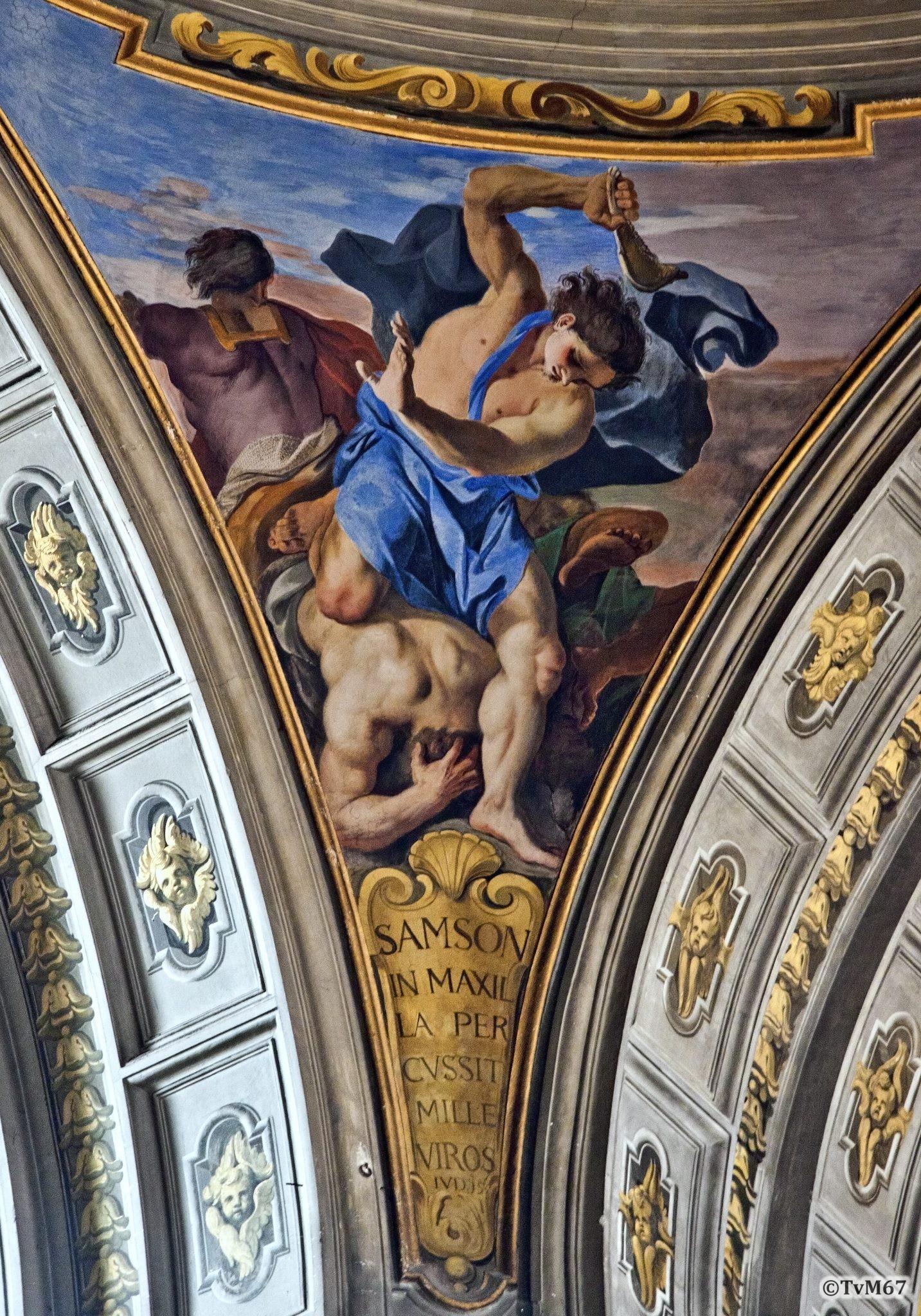 Roma, Chiesa di Sant'Ignazio, Koepel, Pendentief, Pozzo, Samson