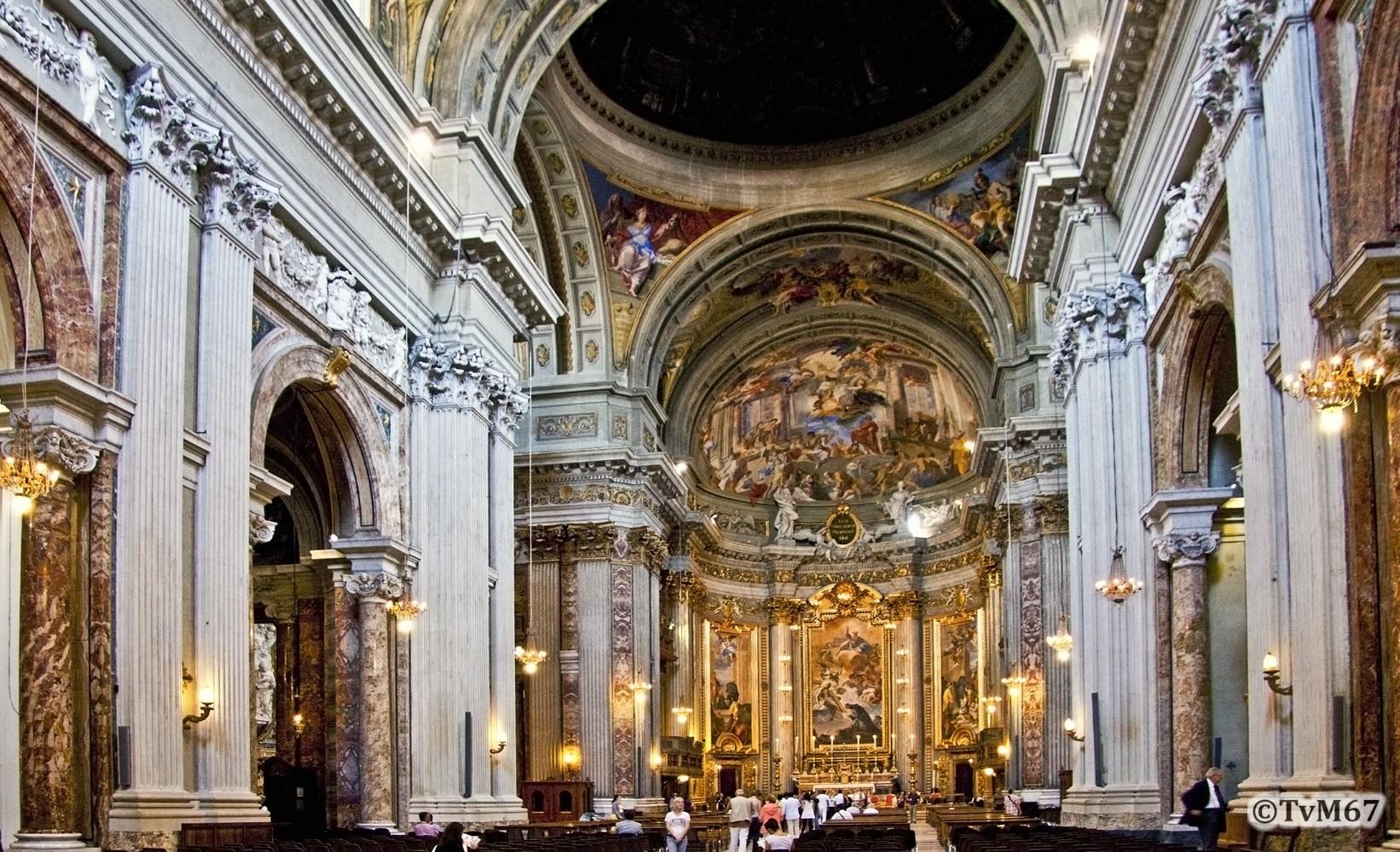 Roma, Chiesa di Sant'Ignazio, Middenschip, Overzicht