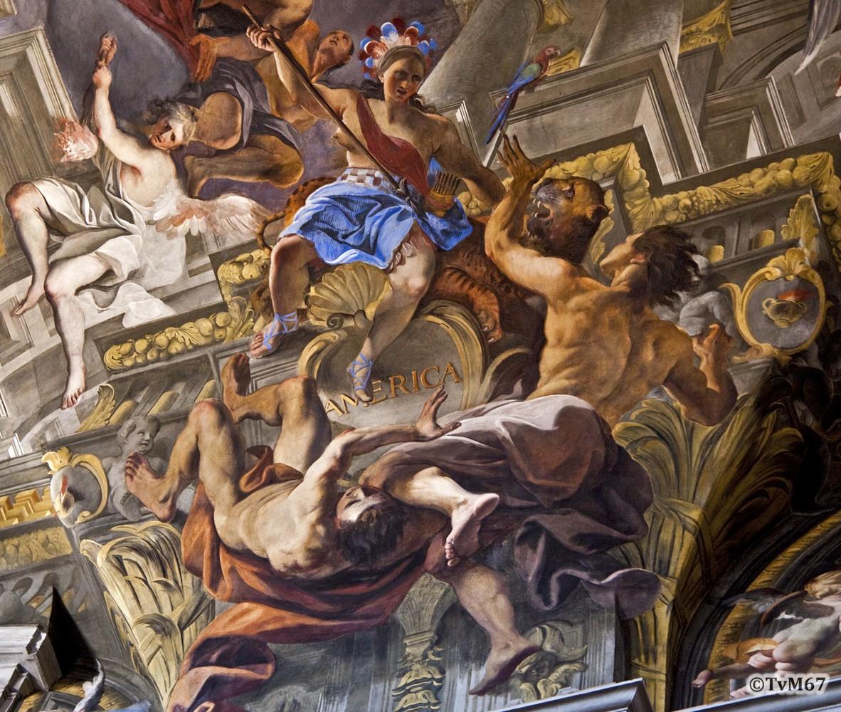 Roma, Chiesa di Sant'Ignazio, Middenschip, Pozzo, Plafond, America, 2009