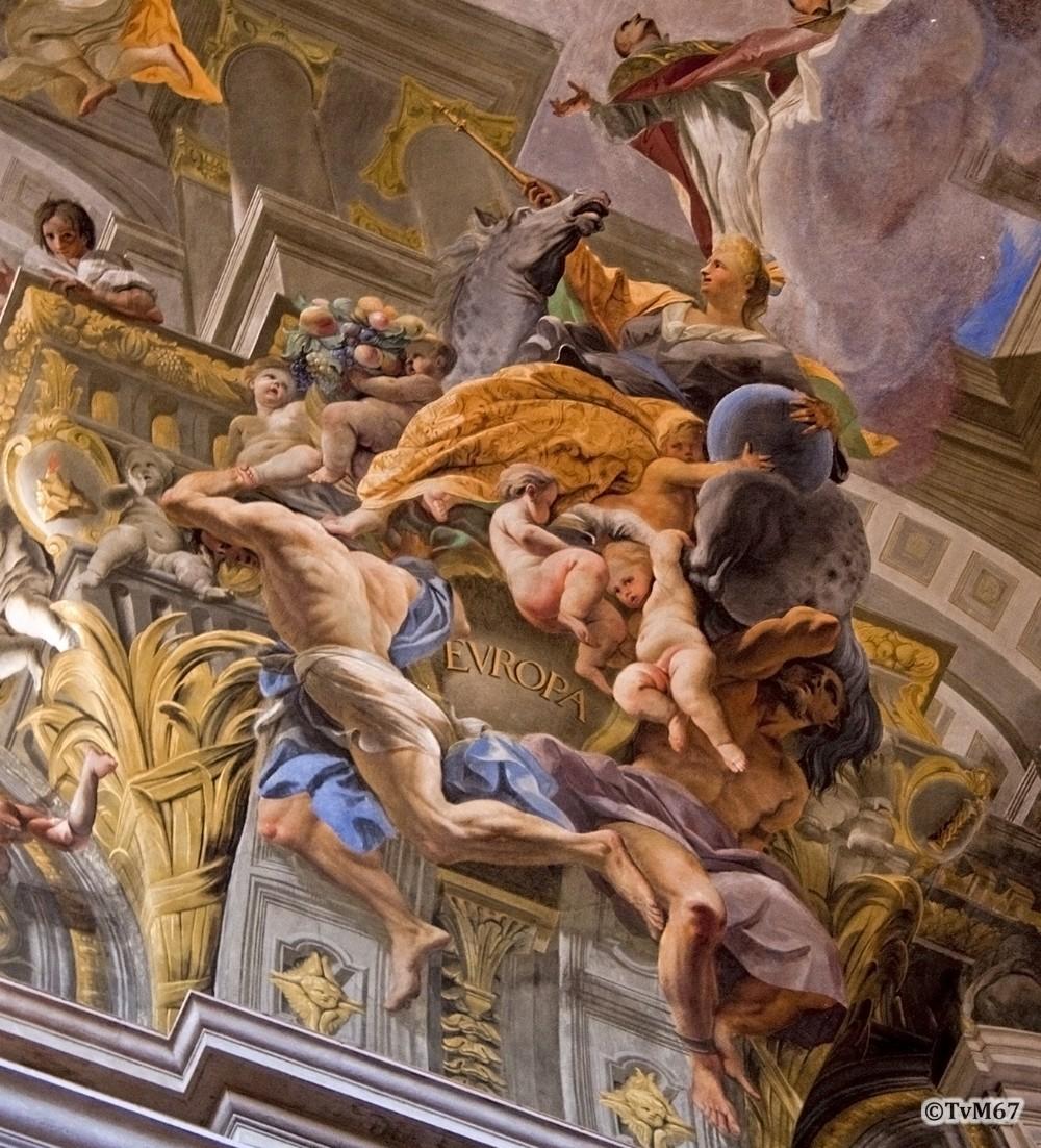 Roma, Chiesa di Sant'Ignazio, Middenschip, Pozzo, Plafond, Europa, 2009