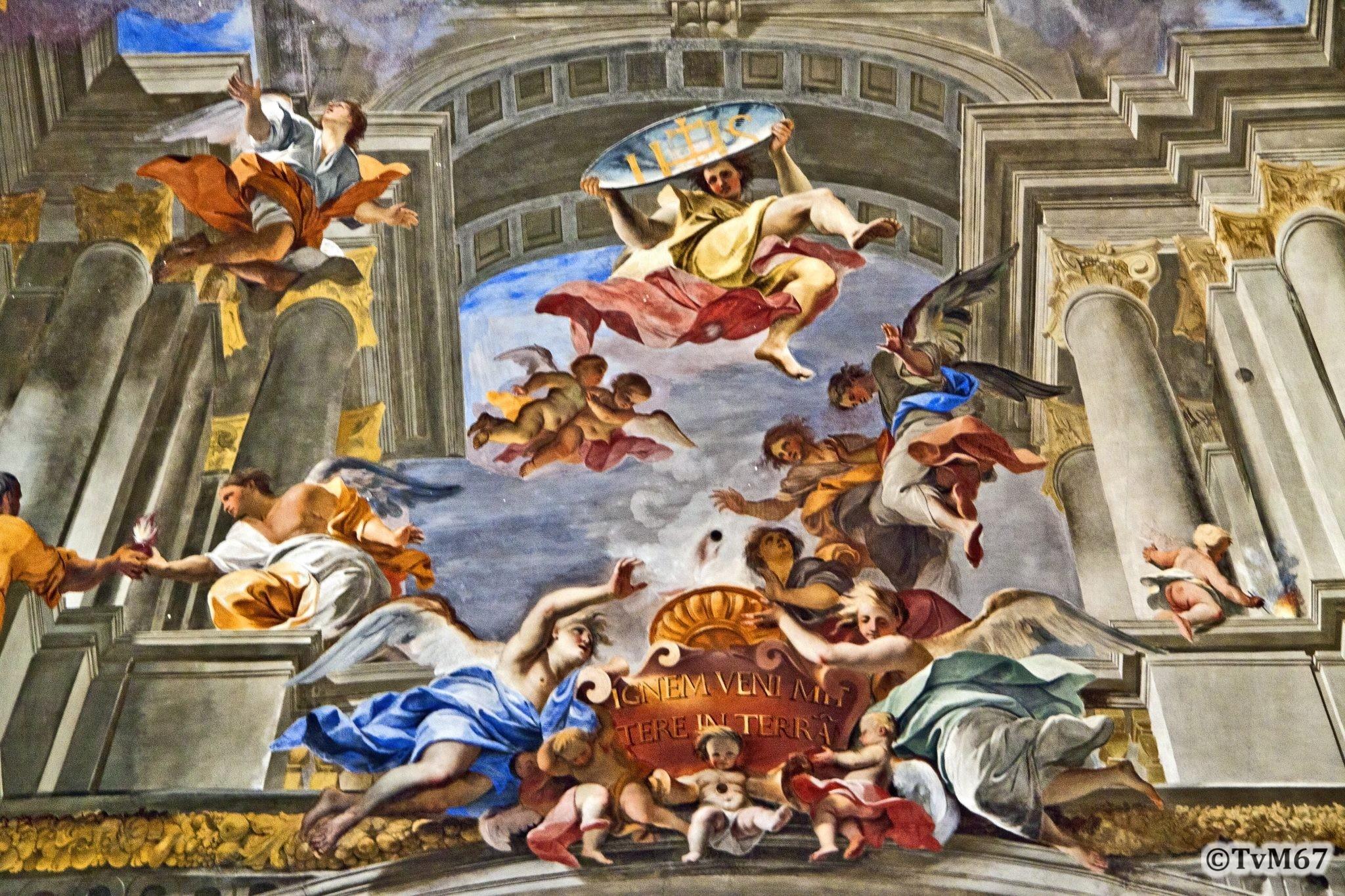 Roma, Chiesa di Sant'Ignazio, Middenschip, Pozzo, Plafond, detail 2, 2011