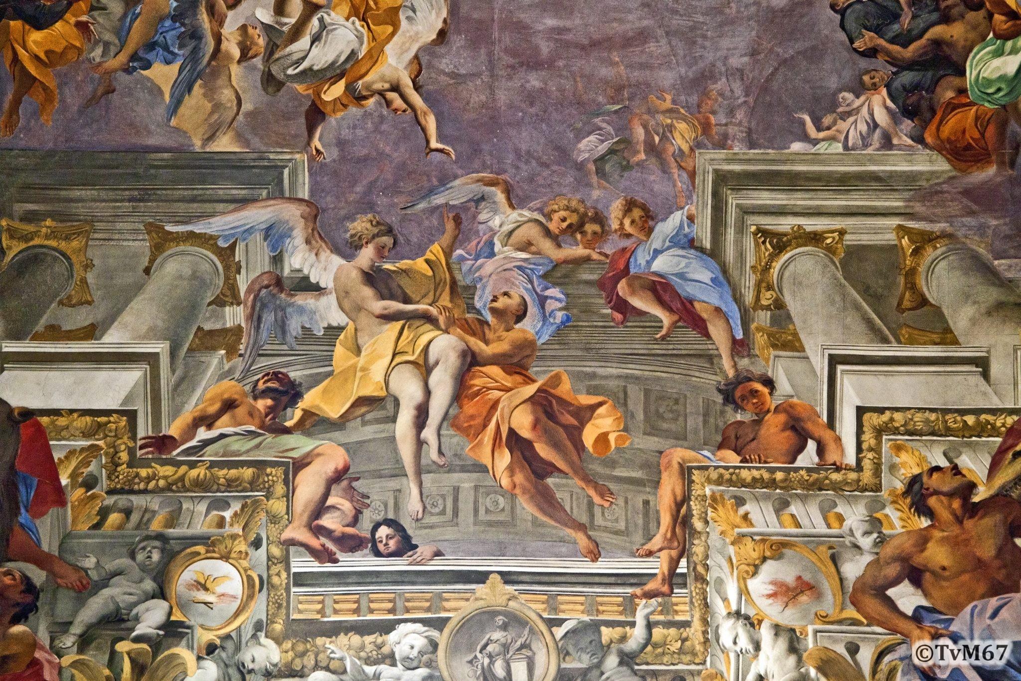 Roma, Chiesa di Sant'Ignazio, Middenschip, Pozzo, Plafond, detail 3, 2011