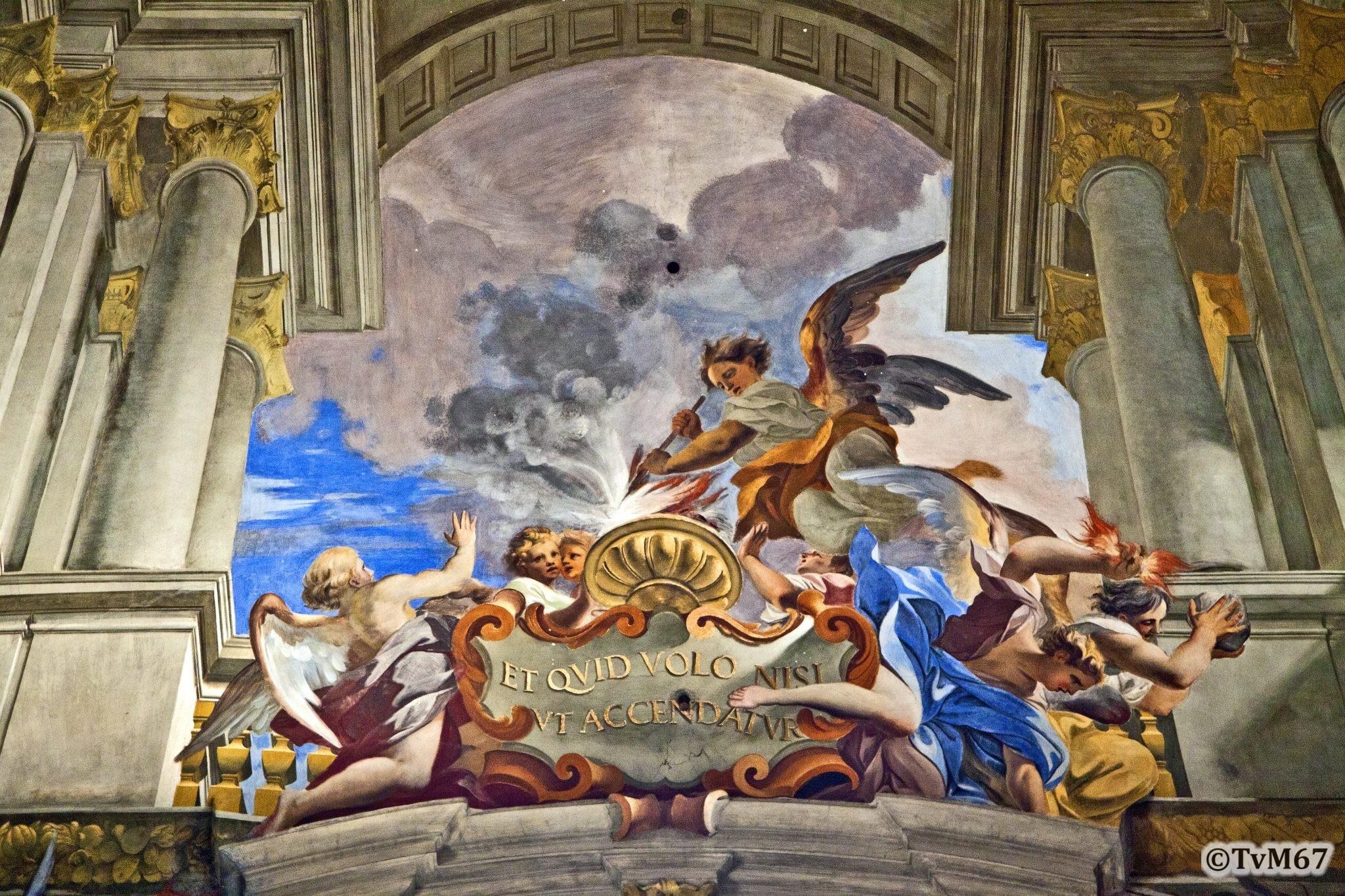Roma, Chiesa di Sant'Ignazio, Middenschip, Pozzo, Plafond, detail 4, 2011