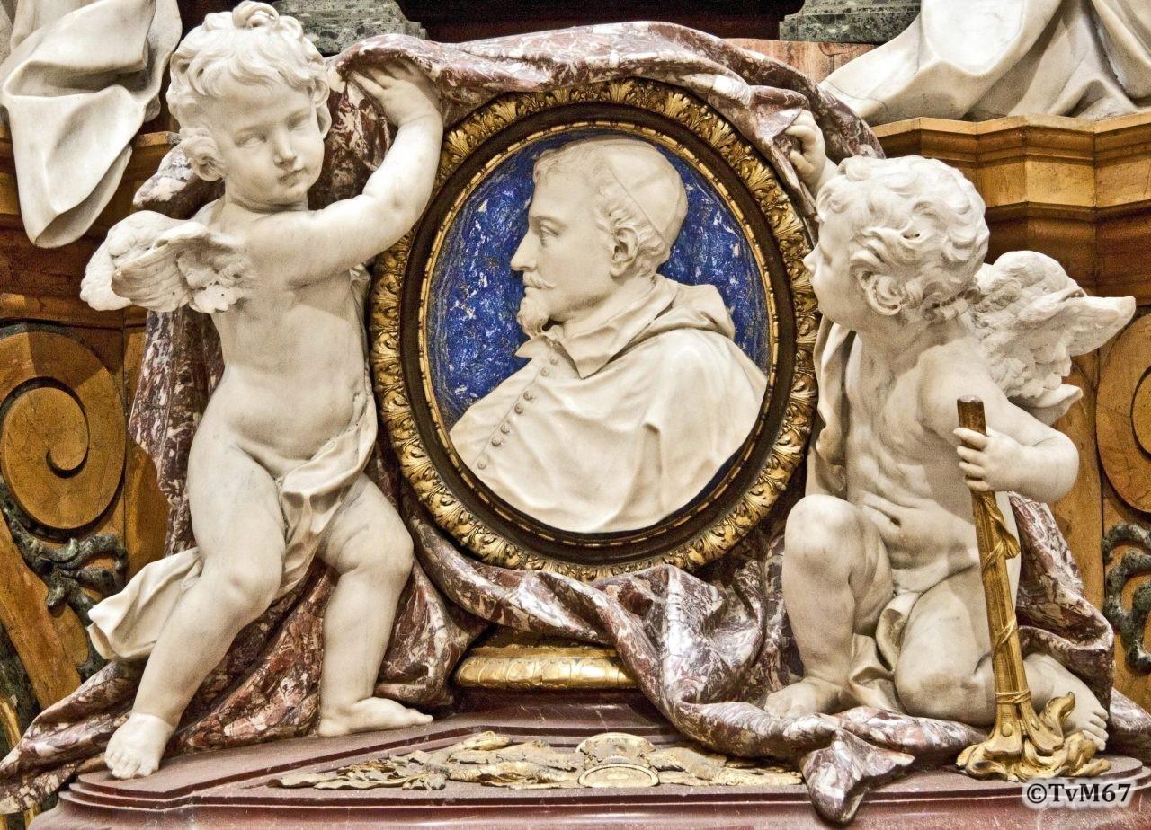 Cappella Ludovisi, Medaillon van kardinaal Ludovisi