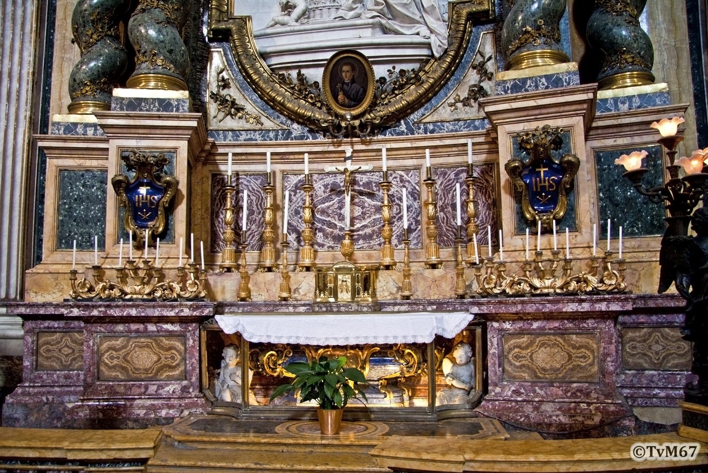 Roma, Chiesa di Sant'Ignazio, Cappella dell'Annunziata, Cerroti, altaar van Jan Berchmans