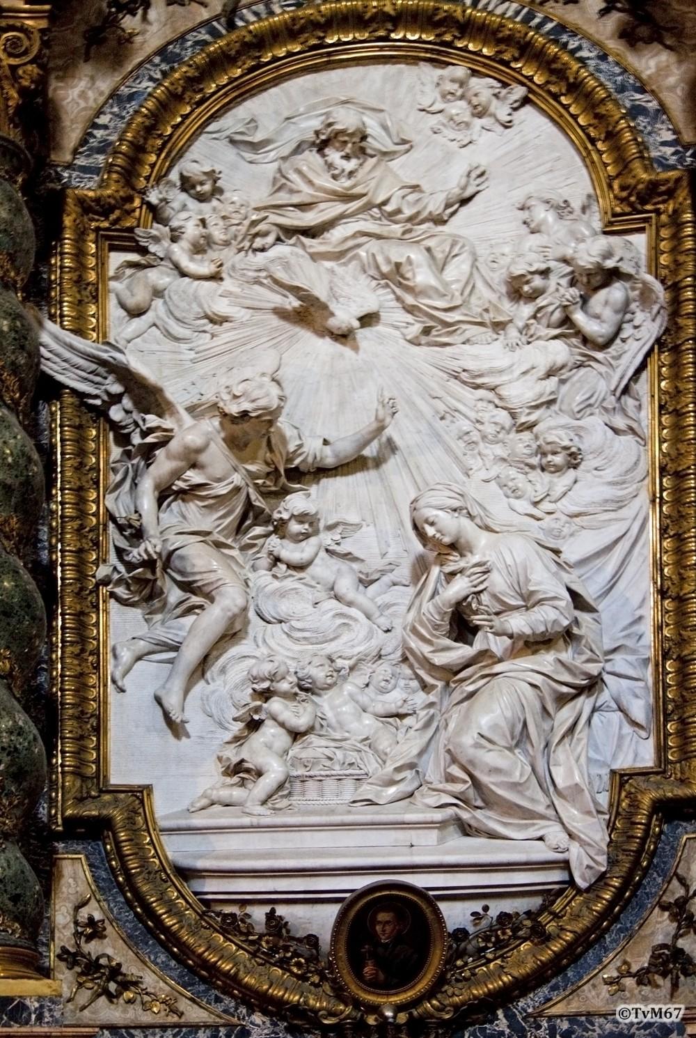 Roma, Chiesa di Sant'Ignazio, Cappella dell'Annuziata, Della Valle: annunciatie