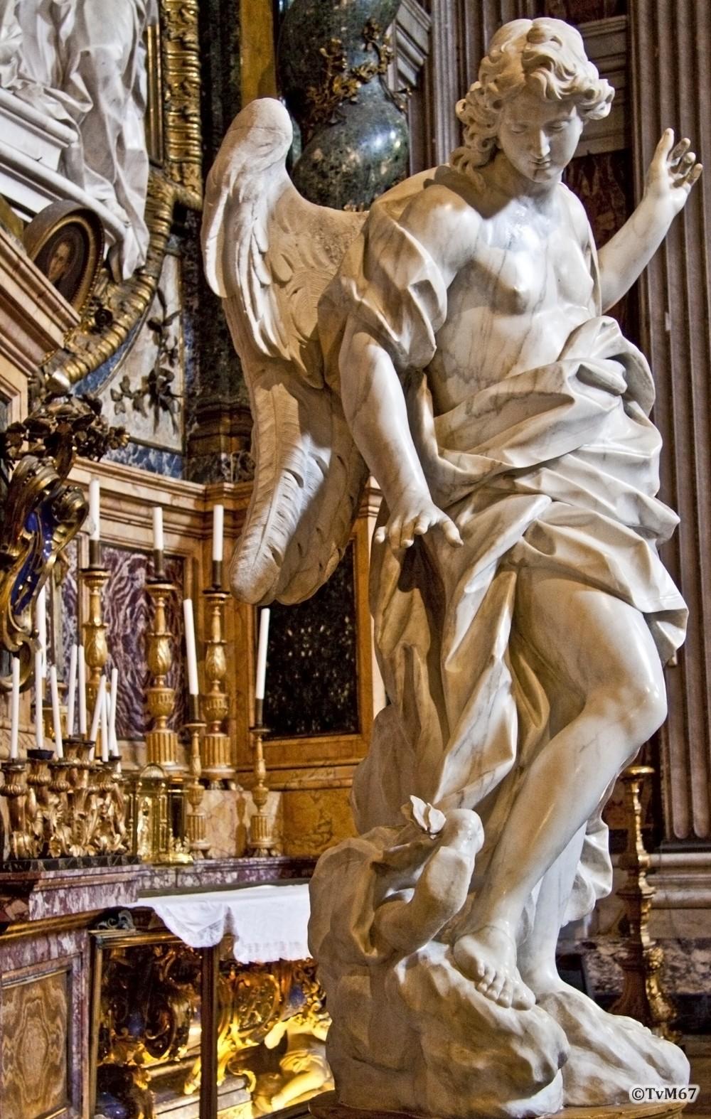 Roma, Chiesa di Sant'Ignazio, Cappella dell Annunziata, Bracci, la Carità en l'Umiltà